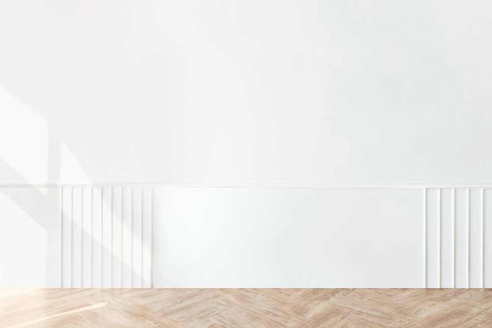 plain-white-wall-with-parquet-floor